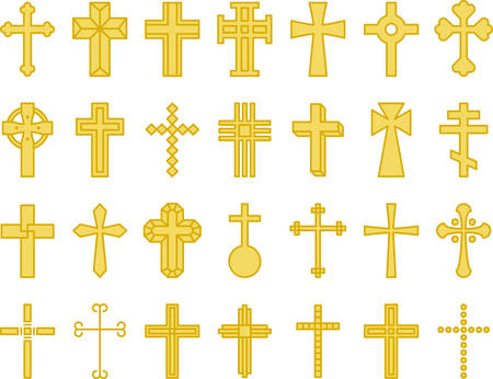 Yellow Crosses - Filled Line Icons