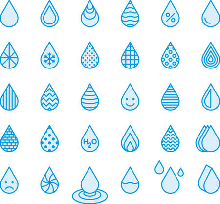 Blue Drops - Filled Line Icons