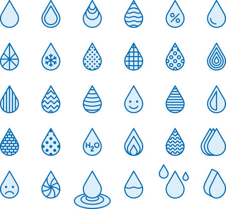 puree: DROPS filled line icons