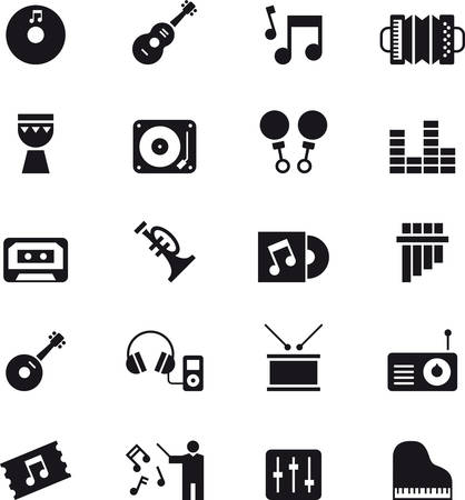 MUSIC black icons pack