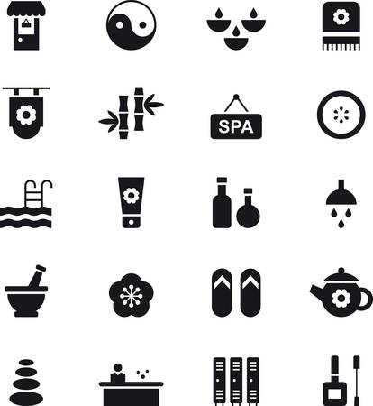 icons: SPA & WELLNESS black icons pack Illustration