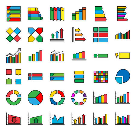 INFOGRAPHICS vector icons Иллюстрация