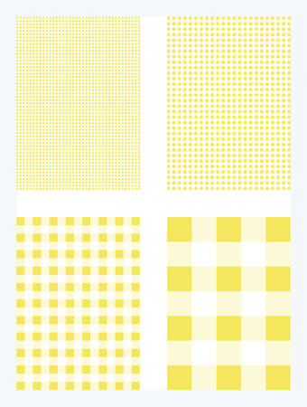 Yellow Gingham Pattern Vector Background Иллюстрация