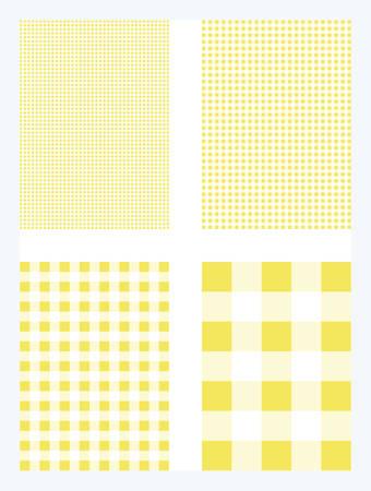 Yellow Gingham Pattern Vector Background Ilustração