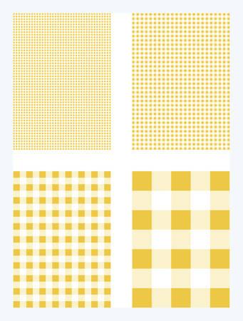 Dark Yellow Gingham Pattern Vector Background