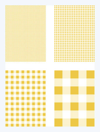 Dark Yellow Gingham Pattern Vector Background