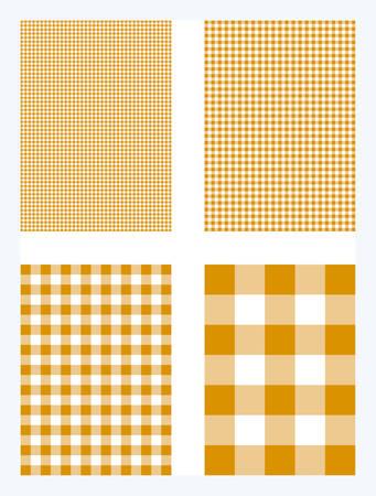 Orange Gingham Pattern Vector Background Ilustração