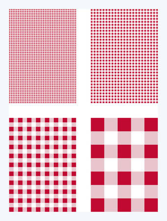 Red Gingham Pattern Vector Background Иллюстрация