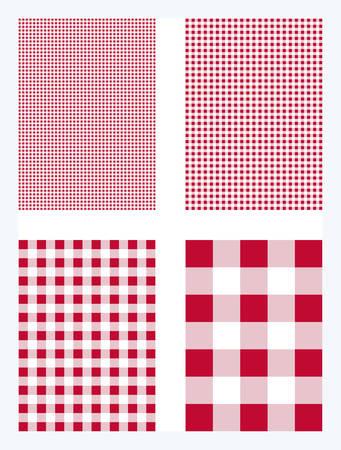 Red Gingham Pattern Vector Background Ilustração