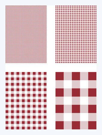 Dark Red Gingham Pattern Vector Background