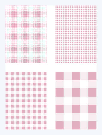 Pink Gingham Pattern Vector Background