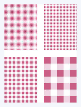 Magenta Gingham Pattern Vector Background