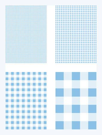 Light Blue Gingham Pattern Vector Background