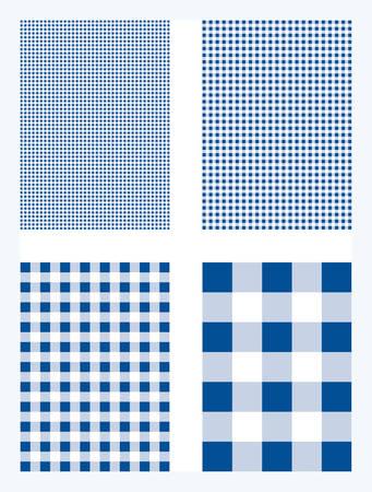 Dark Blue Gingham Pattern Vector Background