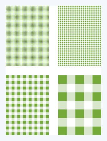Light Green Gingham Pattern Vector Background