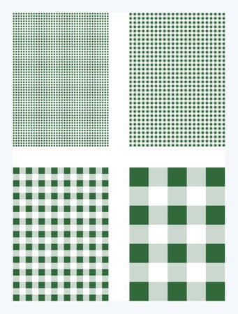 Dark Green Gingham Pattern Vector Background