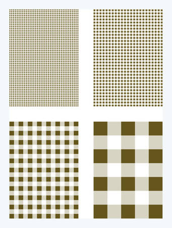 Brown Gingham Pattern Vector Background Иллюстрация
