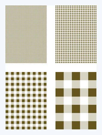 Brown Gingham Pattern Vector Background Ilustração