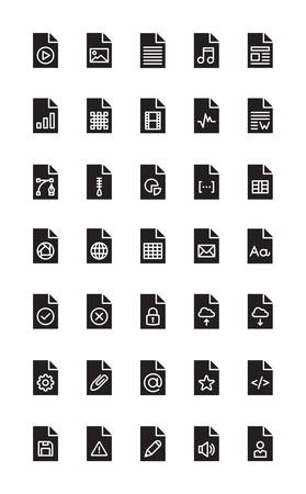 Files & Documents - Black Solid Icons