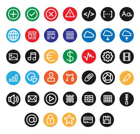 Miscelánea UI & Web iconos dentro de un círculo