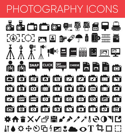 Photography Black Solid Icons