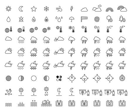 Weather Forecast & Meterology outline icons