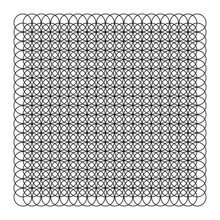 Black Circles Vector Pattern