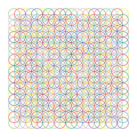 Colorful Circles Vector Pattern
