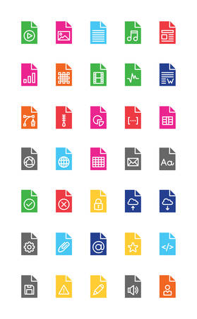 Files & Documents Colorful Solid Icons