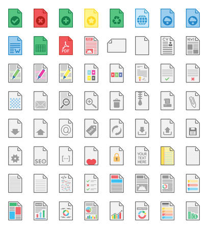 Files & Documents vector icons