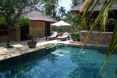 consequence: Swimming pool in a villa in Lombok, Bali, Indonesia