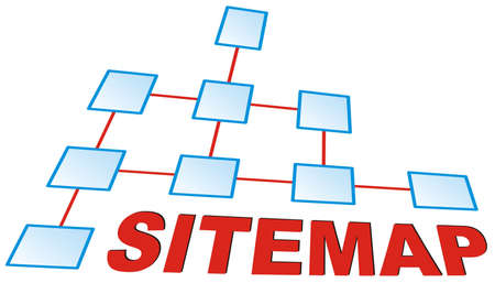 Graphic showing a sitemap Stock Photo - 2982016