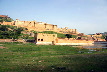 maharaja: Overview of the Amber Fort in Jaipur, India Stock Photo