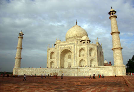 Overview of the jewel of India, Taj Mahal, Agra. photo