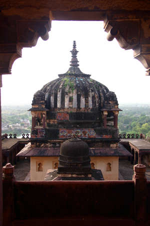 maharaja: Overview of a temple in Khujaraho, India Stock Photo