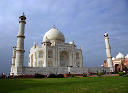 overview: Overview from Taj Mahal, Agra, India Stock Photo