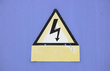 Danger symbol for high electricity Stock Photo - 4039866