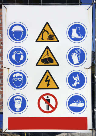 ymbols of danger in a building Stock Photo - 4039864