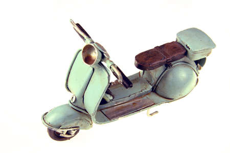 Moto former European metal miniature Stock Photo - 4091404