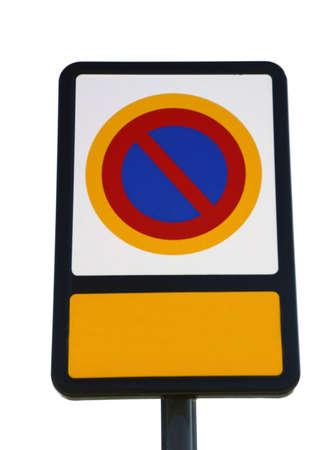 prohibido el paso: Prohibido el paso firme, fondo blanco