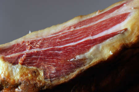 Picture of the court of a typical Jamon Iberico ham from Spain photo