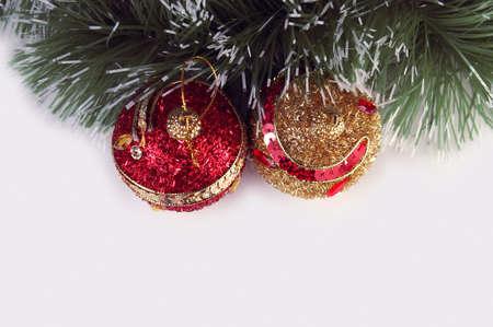 reasons: Greeting card with Christmas balls and reasons