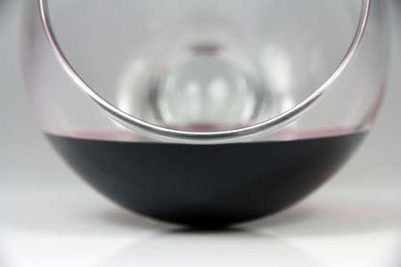 Glass of red wine on the table fall Stock Photo - 18958406