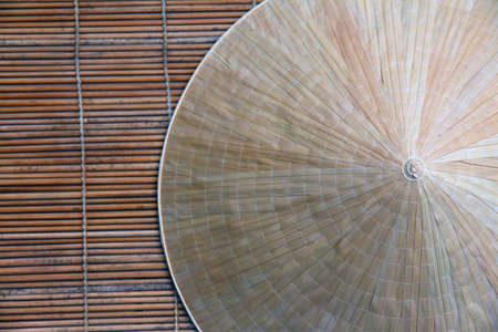 conical hat: Detail of a typical hat Vietnam as background