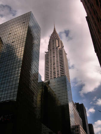 artdeco: Chrysler building among other office buildings on 42nd street, New York City