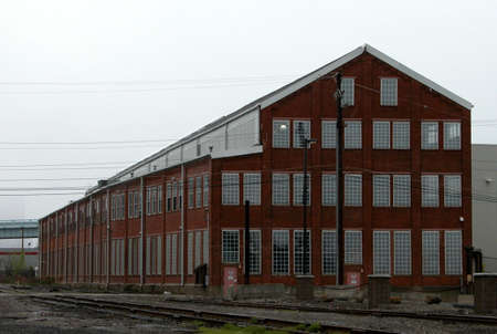 outskirts: An old Industrial building in the outskirts of Pittsburgh Pennsylvania