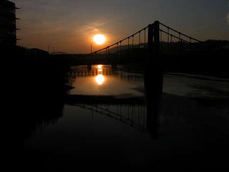 sund: sunrise over the Allegheny River,Pittsburgh Pennsylvania
