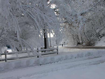 ペンシルベニア州 Pittsburh 近くの冬 写真素材