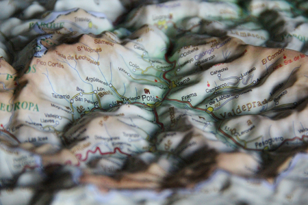 Relief map for 3D orientation in a beautiful area 写真素材