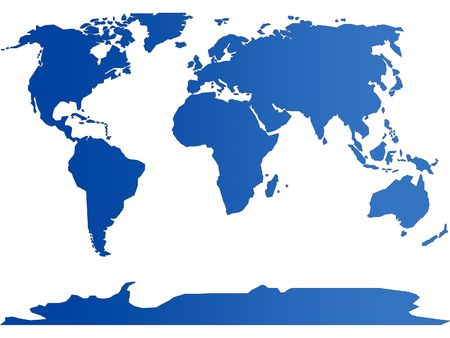 World plain in 2D degree blue to blue photo